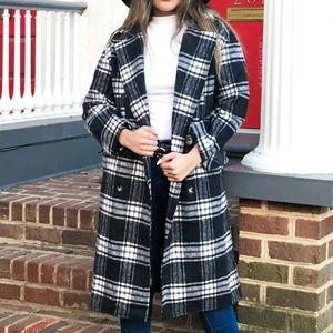 NWT Hyfve Perfect Plaid In Trench Coat Size S & L
